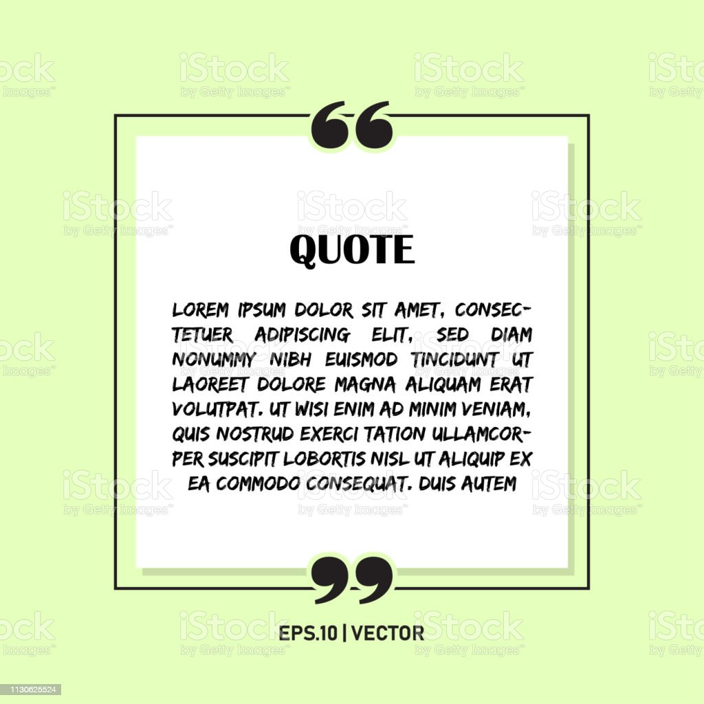 Remark quote text box poster template concept. blank empty frame...