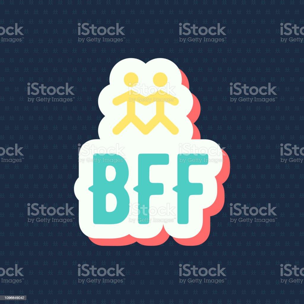 BFF illustration, vector vector art illustration