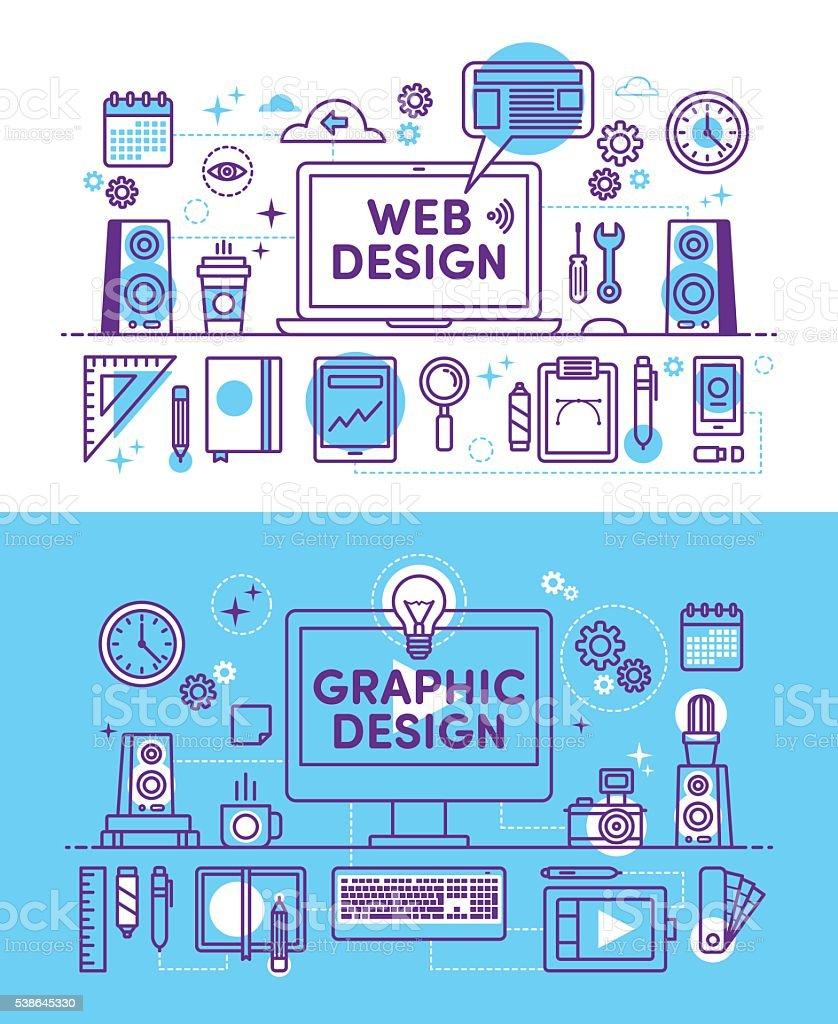 イラスト Web デザイン イラストレーションのベクターアート素材や画像