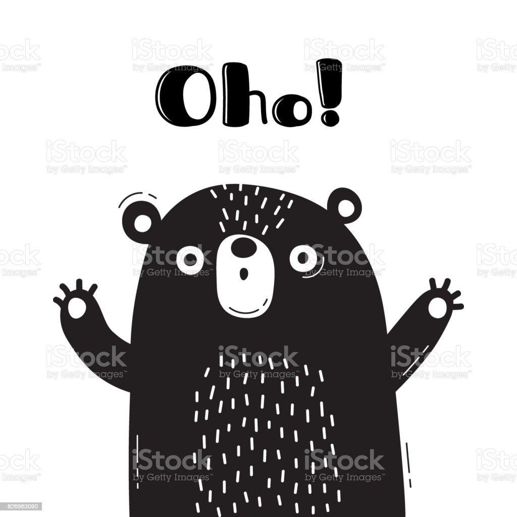 大穂は言うクマのイラストです面白いアバターやポスターカードの