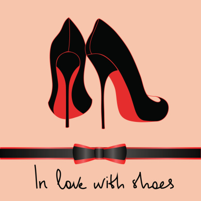 Illustration with black pair of shoes