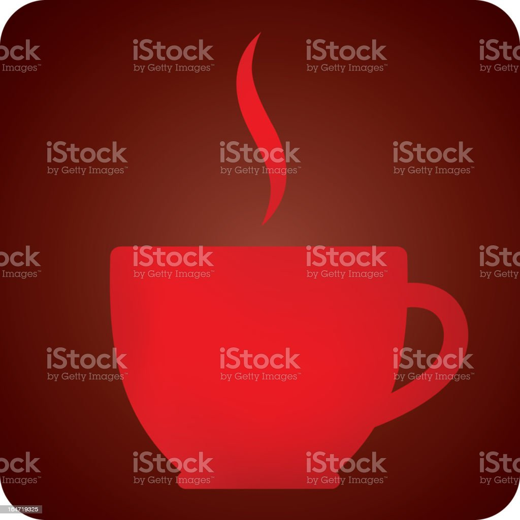 illustration with coffee cup royalty-free stock vector art