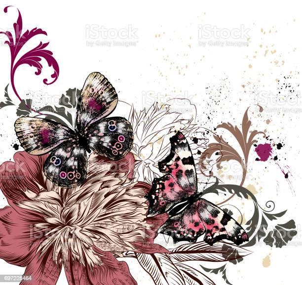 Illustration with colorful butterflies and peony flowers grunge style vector id697228464?b=1&k=6&m=697228464&s=612x612&h=6akik uysv5gmwkmmi18dxqcxpq sfmyex3ca2gqc u=