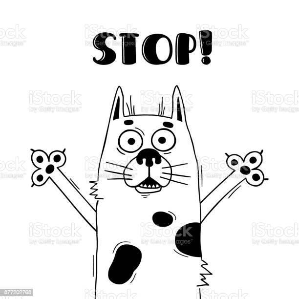 Illustration with funny hound who shouts stop for design of warning vector id877202768?b=1&k=6&m=877202768&s=612x612&h=kopj2ekkfgobtu86dkulsd4f mdm7ypthp4bdtzh5xo=