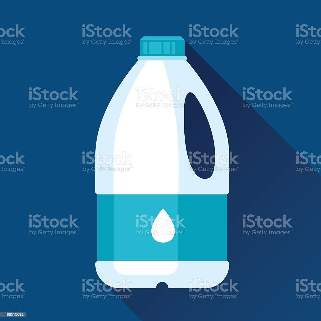 Illustration with gallon of milk in flat design style vector art illustration