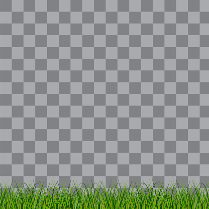 Illustration with green grass on checkers background. Vector pattern. Nature background vector. Stock image. EPS 10.