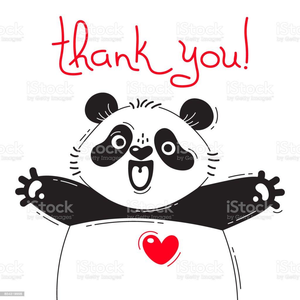 who うれしそうなパンダのイラストありがとうございます面白いアバターや