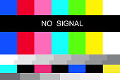 istock Illustration with no signal. Internet broadcast. Digital communication. Vector icon. Stock image. EPS 10. 1307123899