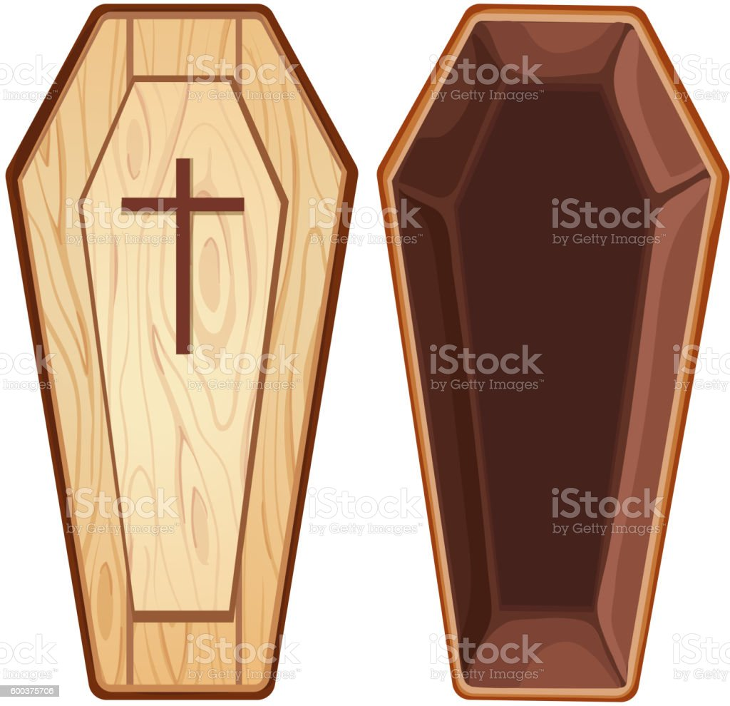 open coffin clip art, vector images & illustrations - istock