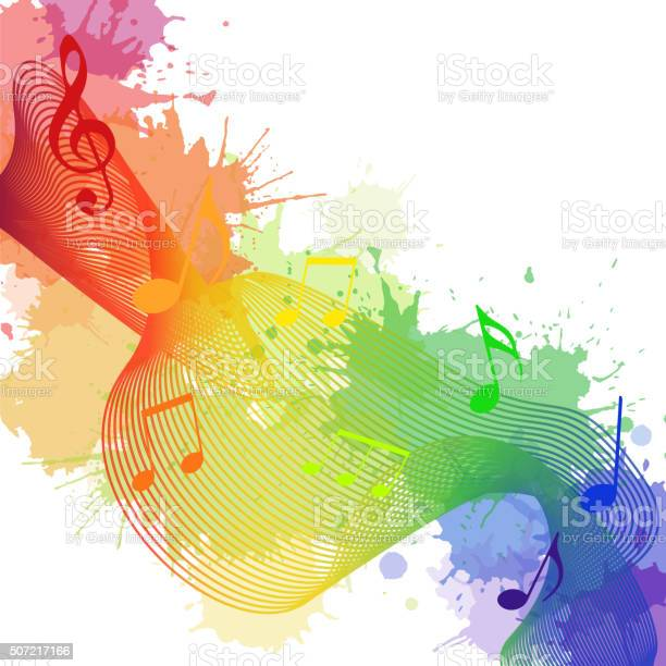 Illustration with rainbow musical notes waves vector id507217166?b=1&k=6&m=507217166&s=612x612&h=muezoa7djmkezoiqvvhbx0lqjplfkz61xghd3zbs0ea=
