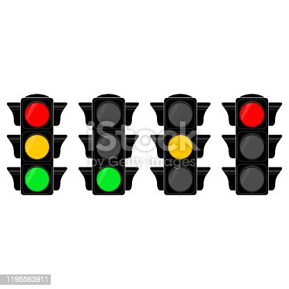 vector illustration with  traffic semaphore