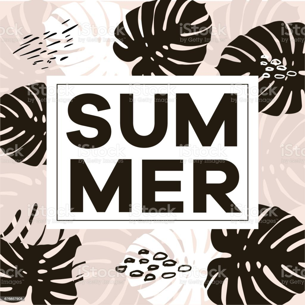 Abbildung Wort Motto Sommer In Eine Quadratische Weiße Rahmen Die ...