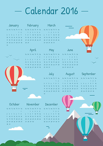 Calendar Pages Vector : Royalty free calendar pages flying clip art vector images