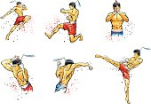 Illustrations fighters of Thailand