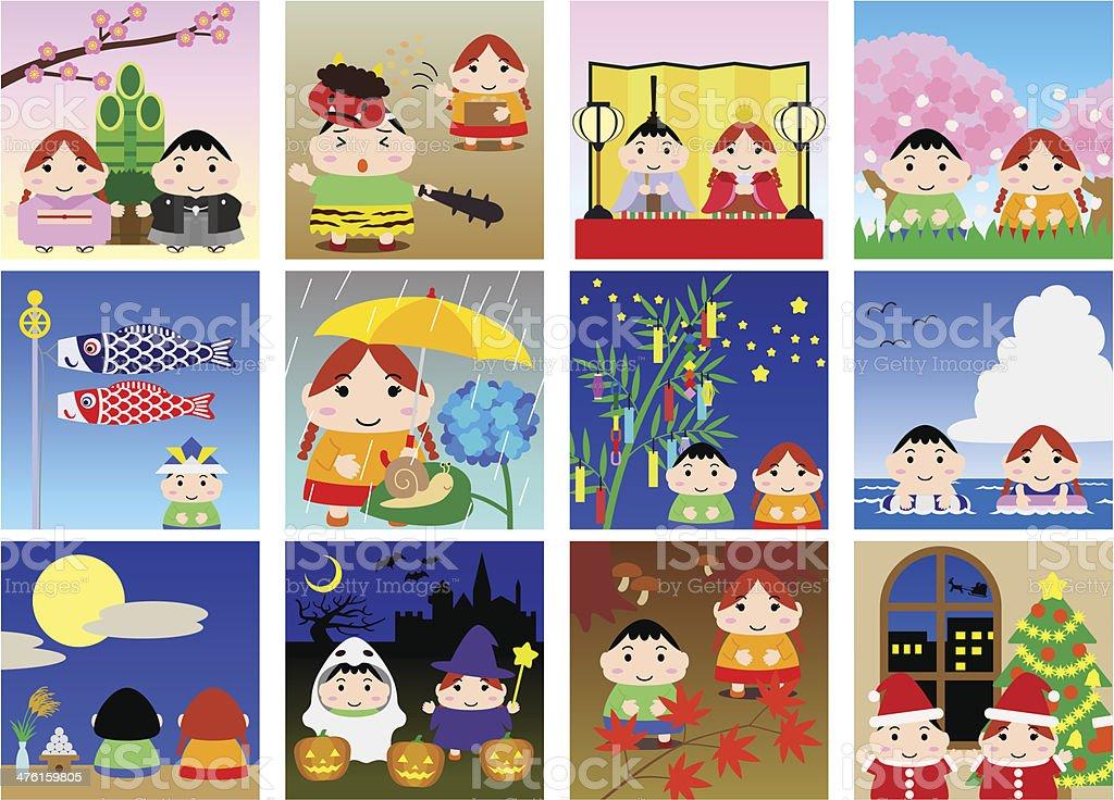 Calendario Giapponese Animali.Illustrazioni Per Bambini Giapponese Calendario Immagini