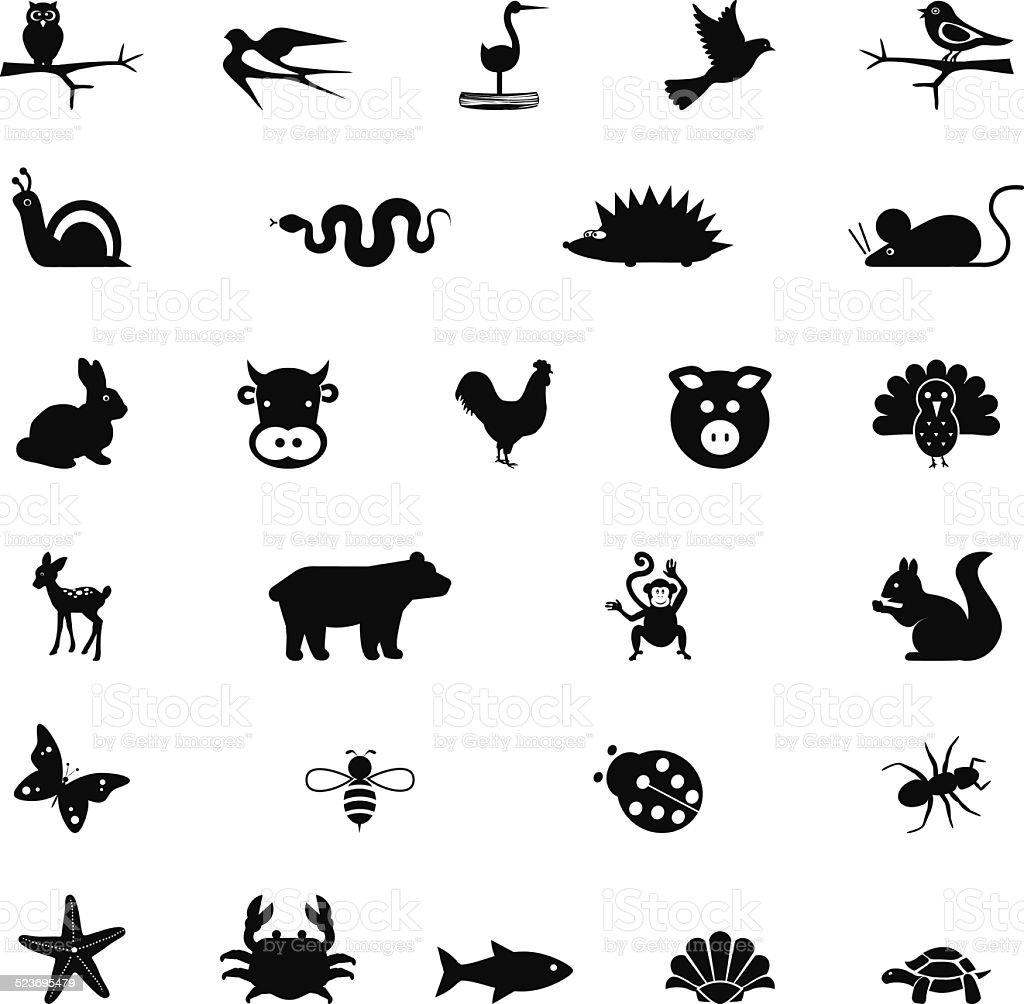 Illustrations of animals vector art illustration