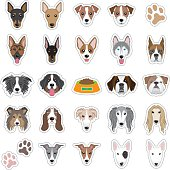 Illustrations of dog face