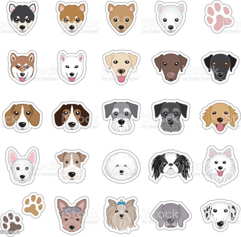 Pies twarz Ilustracje – artystyczna grafika wektorowa