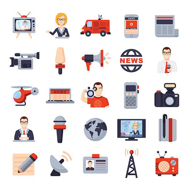 Illustrations of Flat icon set ベクターアートイラスト