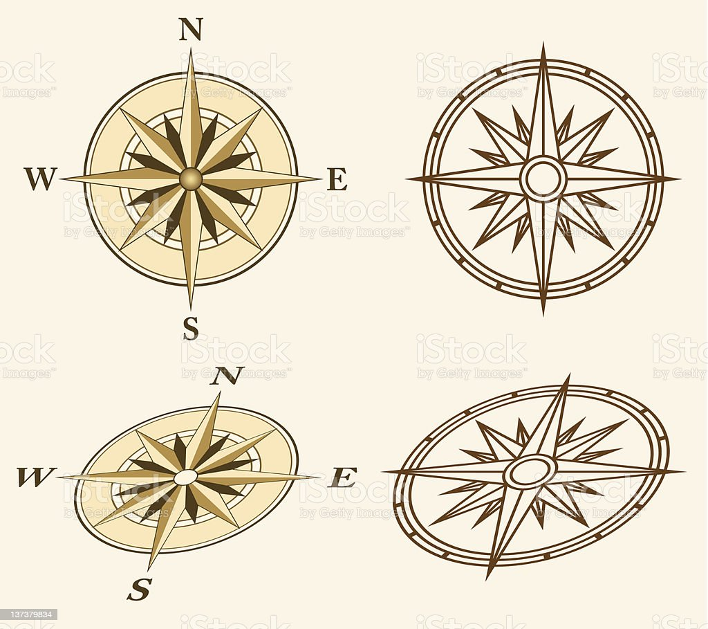 Illustrations of four compasses royalty-free illustrations of four compasses stock vector art & more images of cartography