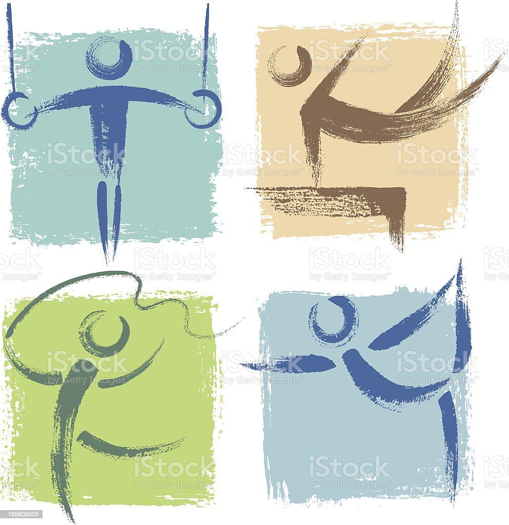 Ícones de esportes - ilustração de arte em vetor
