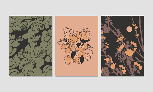 Illustrations of plants and flowers