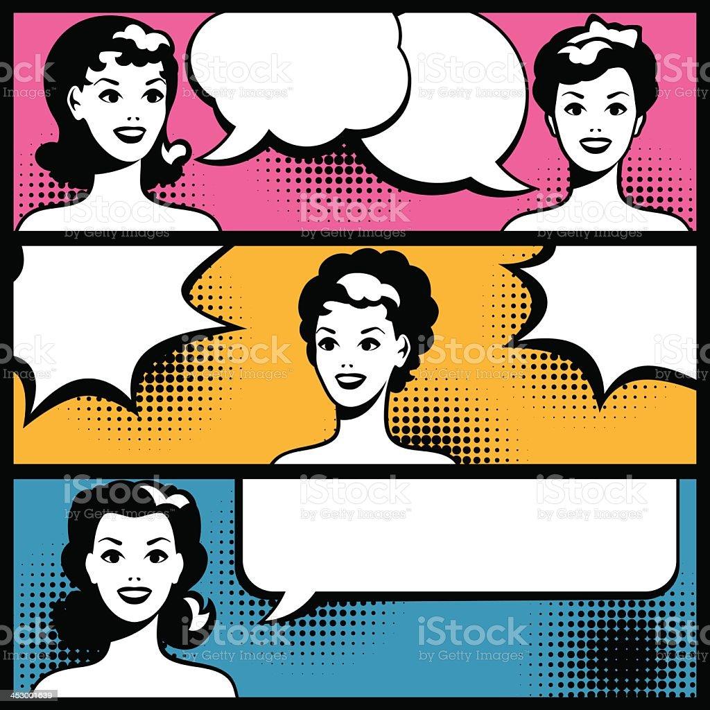 Illustrations of pop art women with speech bubbles royalty-free illustrations of pop art women with speech bubbles stock vector art & more images of 1940-1949