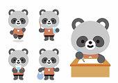 istock Illustrations of various animals (rabbit, bear, cat, mouse, sea dog, lion, panda) 1327092268