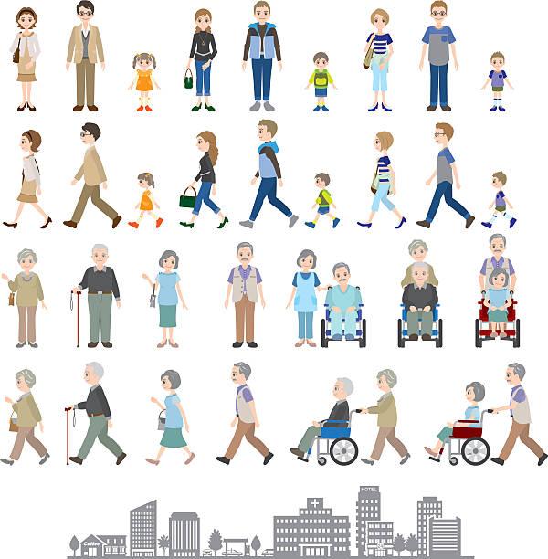 illustrations, cliparts, dessins animés et icônes de illustrations de plusieurs personnes, membres de la famille - époux