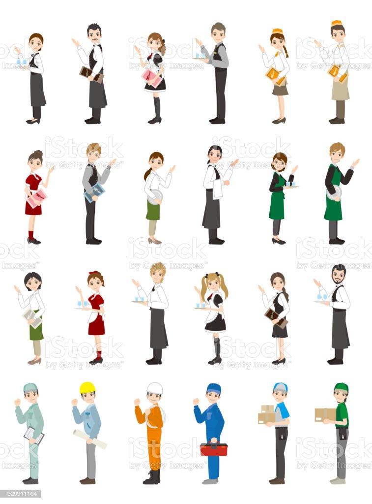 Illustrationer Av Olika Personer Arbeta Människor Vektorgrafik Och