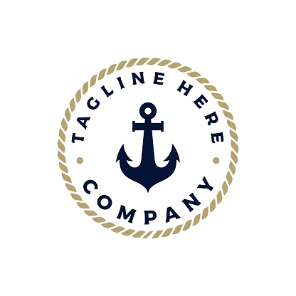 Illustrations on a marine theme. stock illustration Russia, Anchor - Vessel Part, Drawing - Activity, Nautical Vessel, Logo