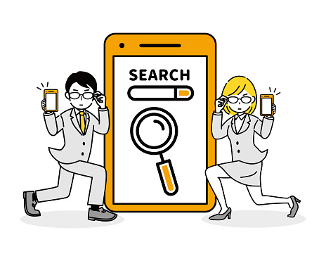 Illustrations to search on your smartphone.