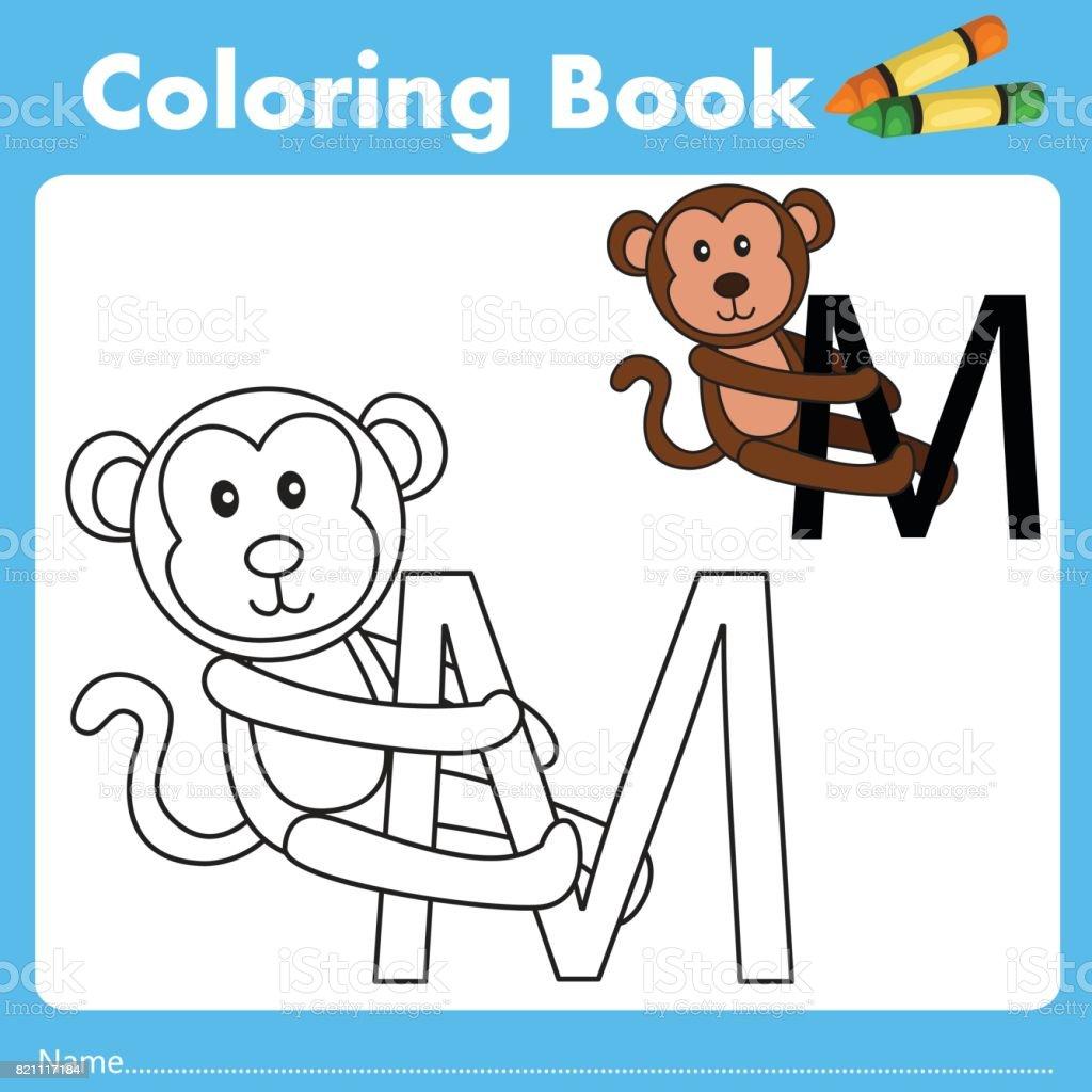 Book color illustrator - Illustrator Of Color Book M Royalty Free Stock Vector Art
