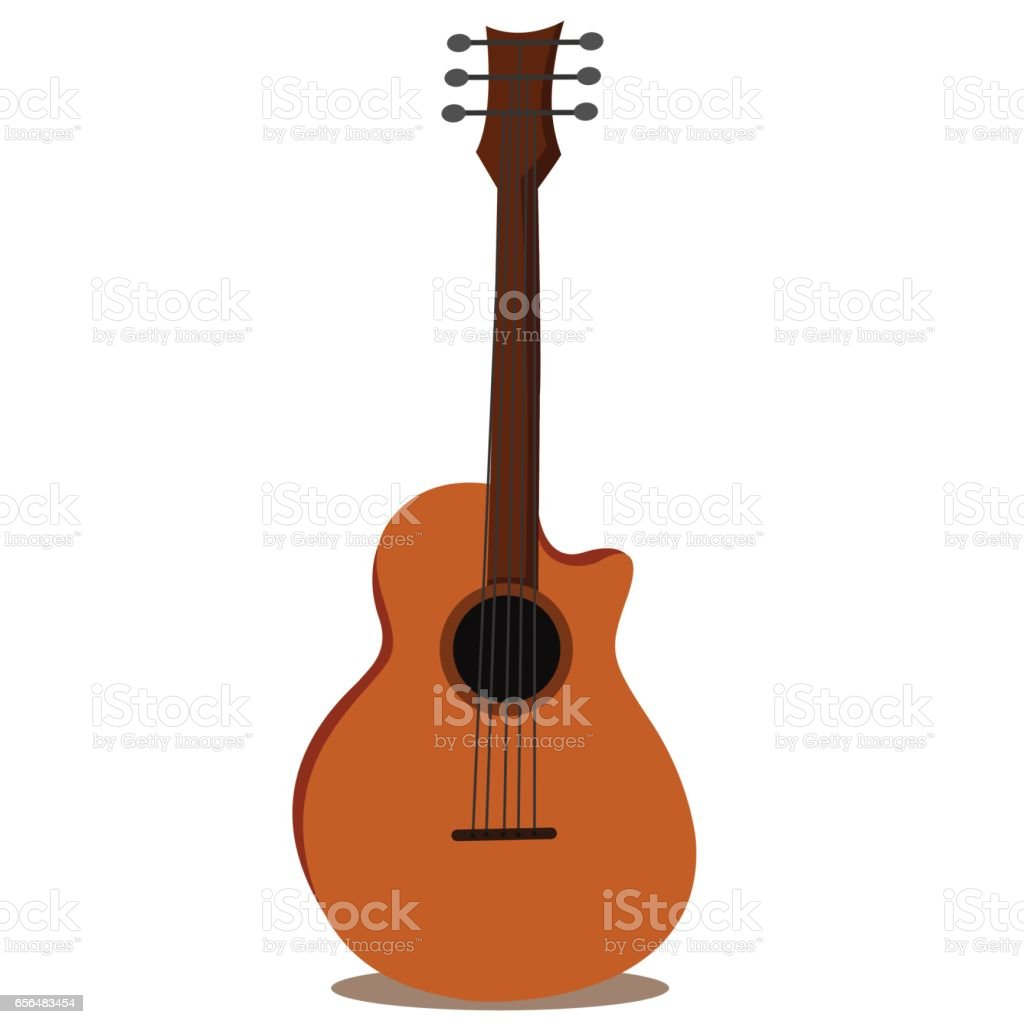 Illustrator of guitar isolated on white background vector art illustration