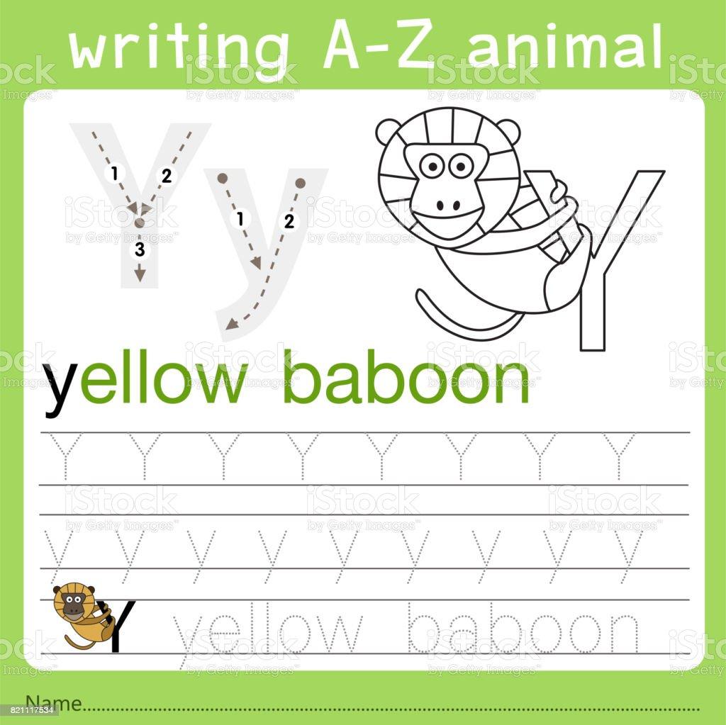 Illustrator Von Az Tiere Y Schreiben Stock Vektor Art und mehr ...