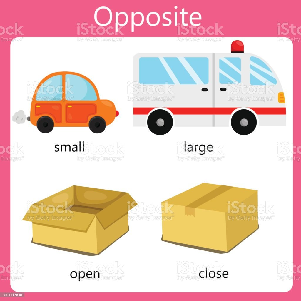 Illustrator Opposite set two vector art illustration