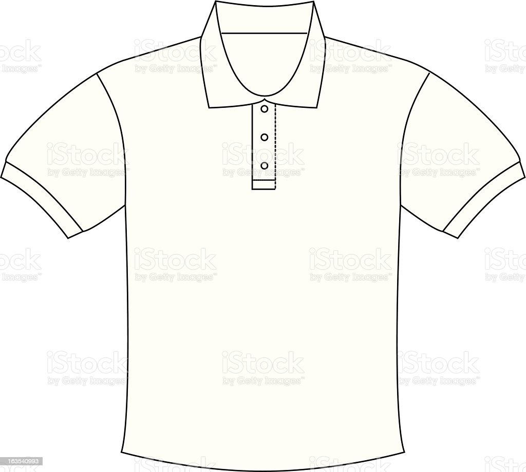 illustrator polo shirt stock vector art more images of button sewing item 163540993 istock. Black Bedroom Furniture Sets. Home Design Ideas
