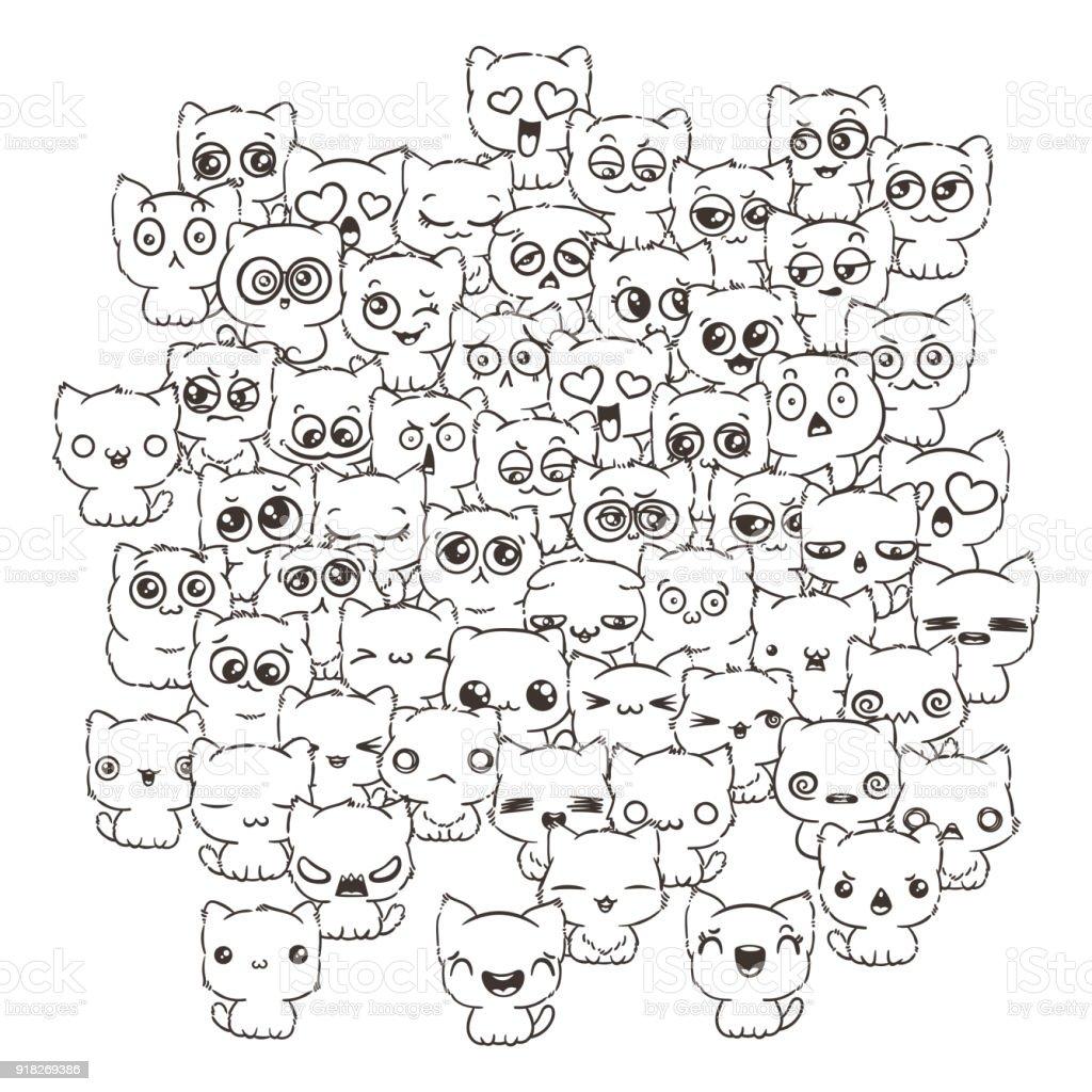 Kediler Ve Köpekler Için Tasarım Posterler Baskılar Davetiye Tebrik
