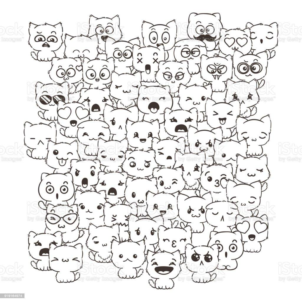 Kediler Ve Kopekler Icin Tasarim Posterler Baskilar Davetiye