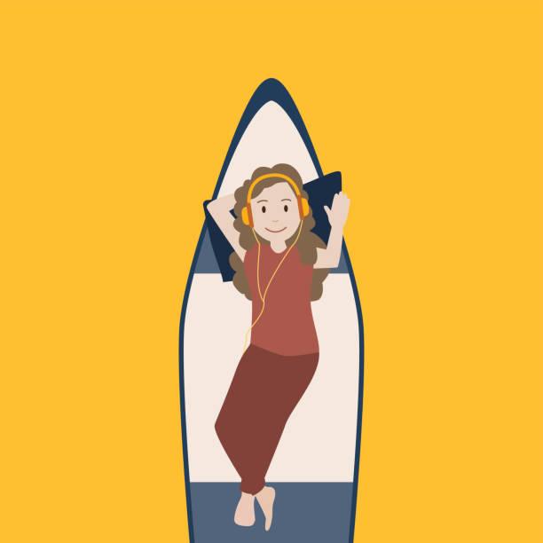 Im Boot entspannen – Vektorgrafik