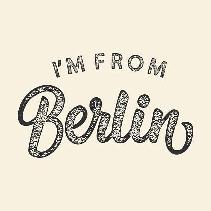 Im From Berlin T-shirt print design
