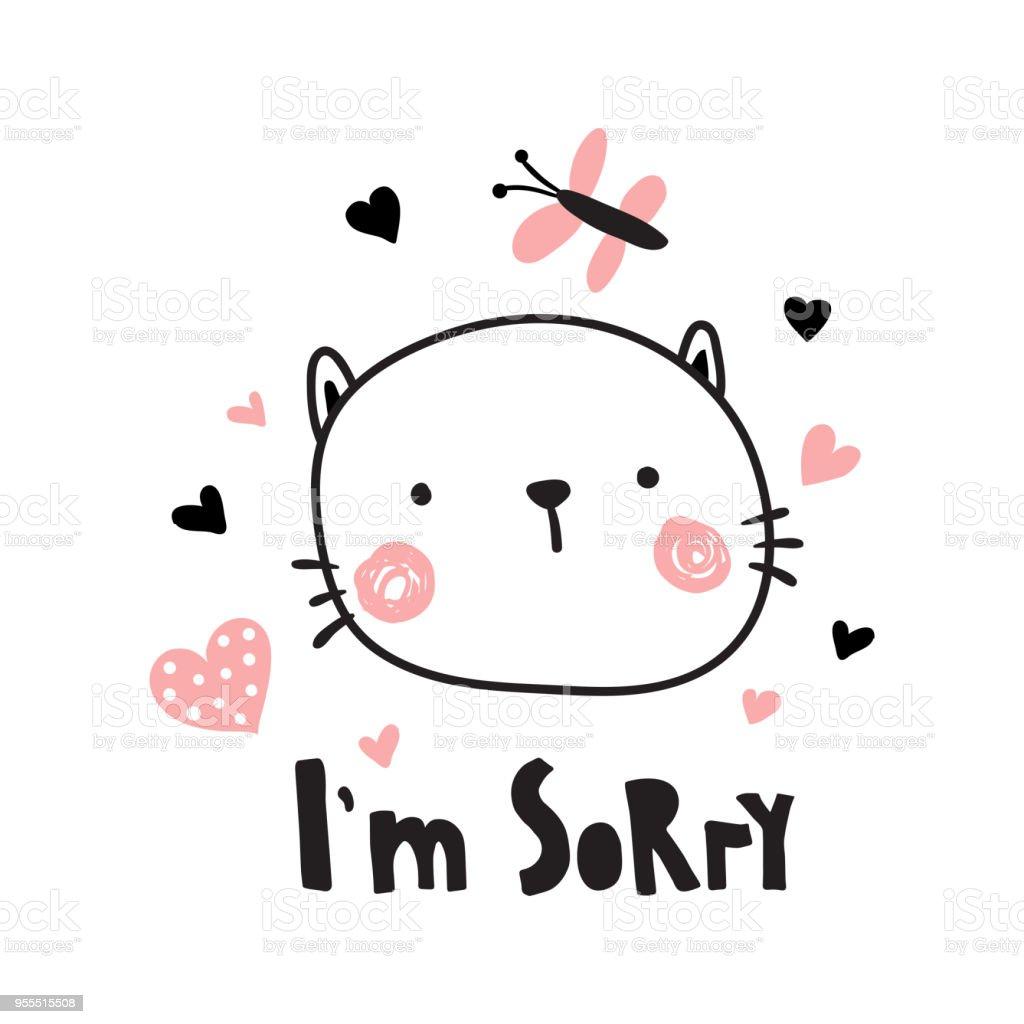 イム申し訳ありませんが子猫 アイムソーリーのベクターアート素材や