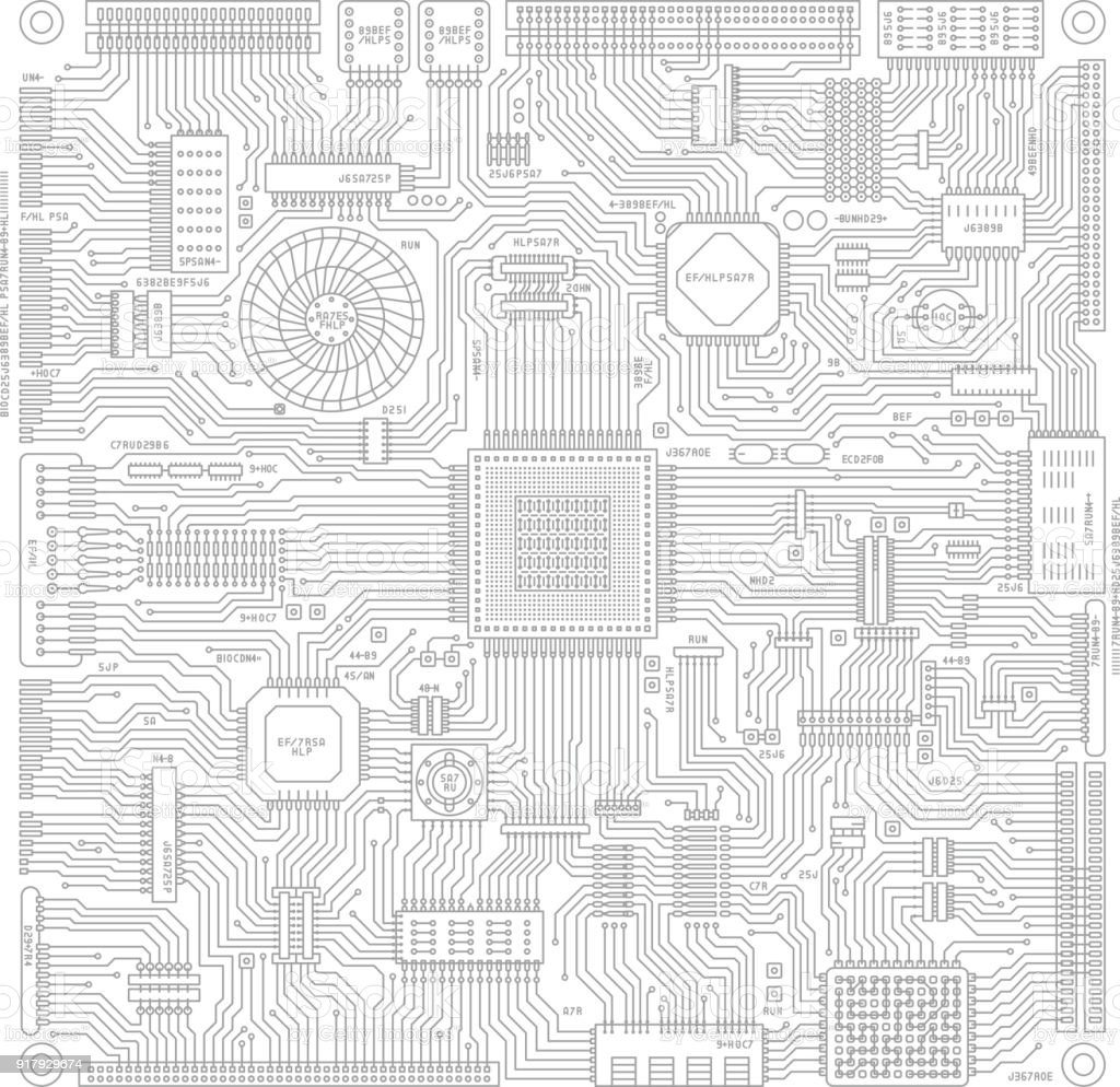 image illustration of board and electronic circuit stock vector art  u0026 more images of backgrounds
