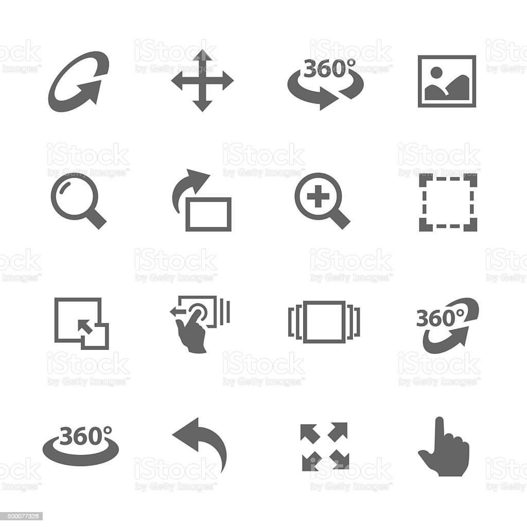 Image Manipulation Icons vector art illustration