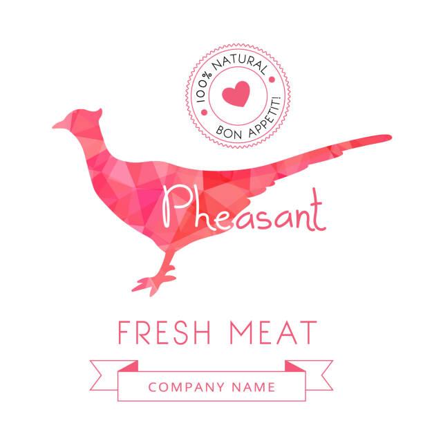 Image meat symbol pheasant silhouettes of animal for design menus vector art illustration