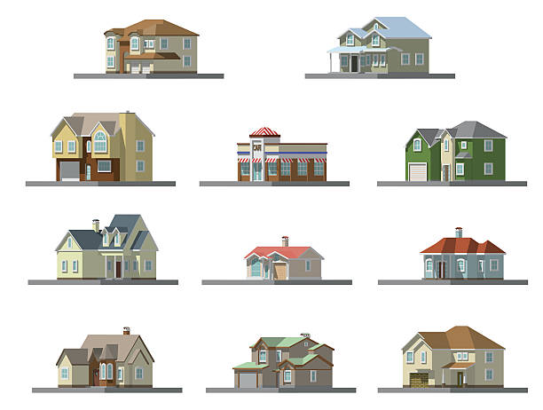 image of a private house. vector flat illustration vector art illustration