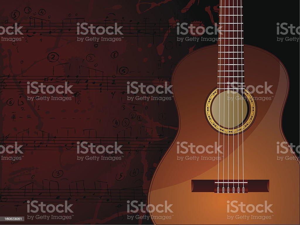 Guitarra - ilustración de arte vectorial