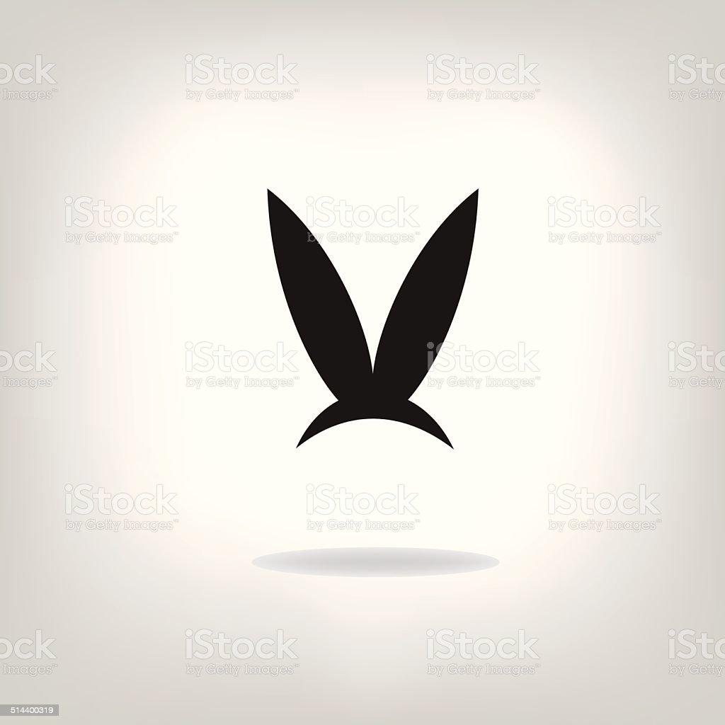 Image of an rabbit on white background vector art illustration