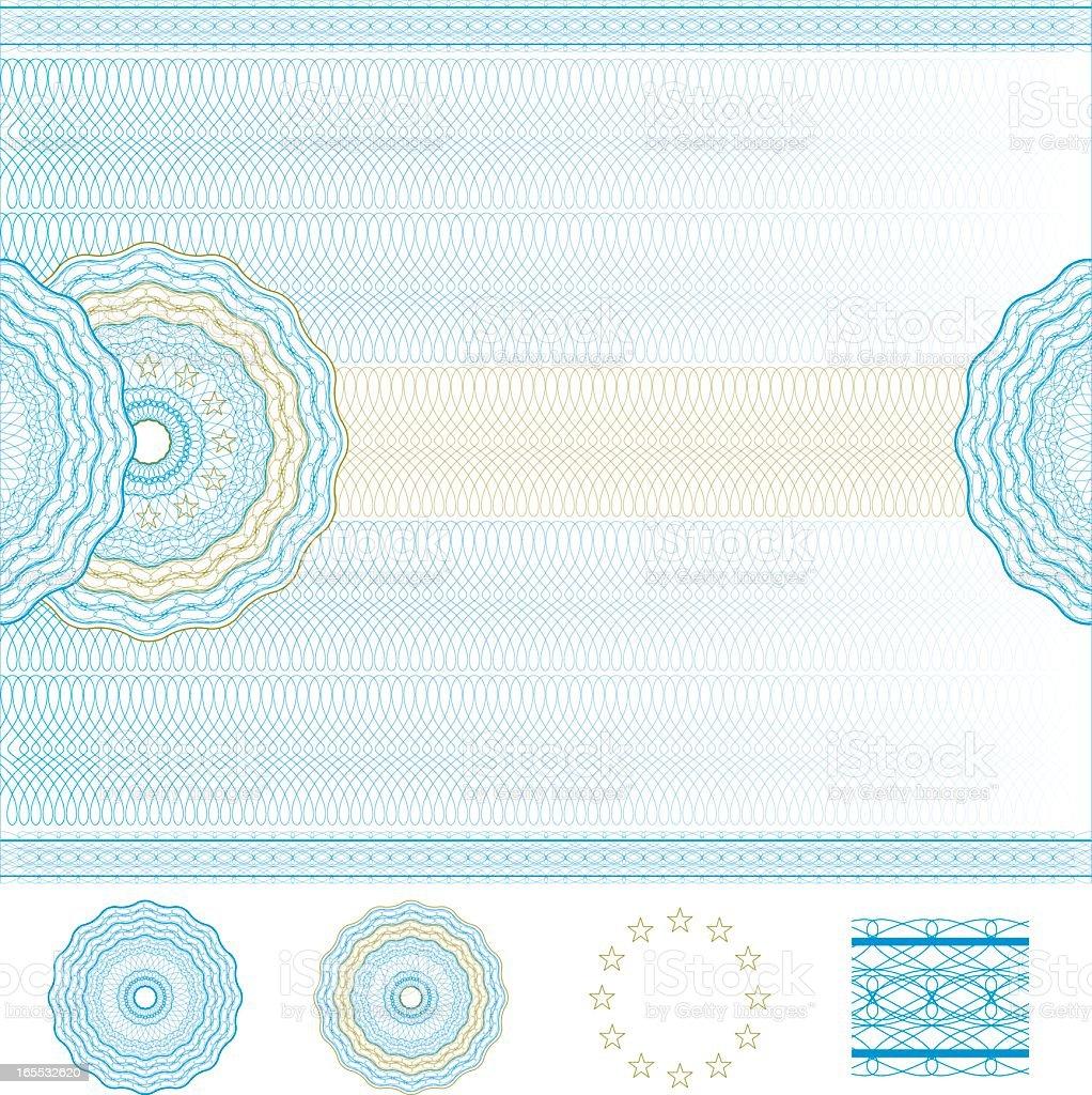 Image of blank diploma template vector art illustration