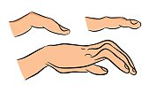 Image of cartoon human hand  and fingers.